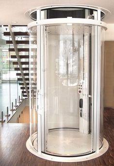 Visilift round glass elevator.