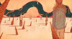 dragon slithering across a landscape  WENYI GENG