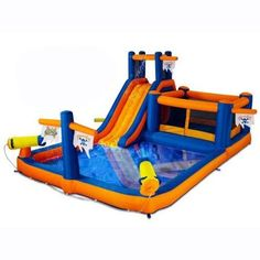 Blast Zone Pirate Bay Inflatable Water Park - Walmart.com