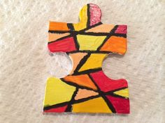 """Universe"" for crazyda79 // Altered Puzzle Piece Swap Round 9 @ craftster.org"