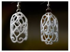 Filigree Bell Shaped Earrings by LincolnK on Shapeways