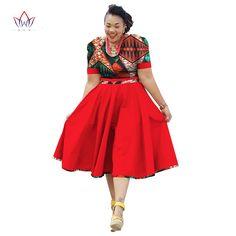 Plus Size Clothing 2017 spring Dress African Print Dress Dashiki For Women Bazin Riche Vestidos Femme Dress Plus Size BRW Source by African Dresses Plus Size, African Dresses For Women, African Attire, African Wear, African Suits, African Print Dress Designs, African Print Dresses, African Print Fashion, Africa Fashion