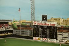 "Lot Detail - Connie Mack Stadium ""Mahaffey's Game"" ft Oil-on-Canvas Painting by Mike Kuyper Phillies Baseball, Baseball Live, Baseball Park, Baseball Field, Shea Stadium, Yankee Stadium, Philadelphia Athletics, Philadelphia Phillies, Metropolitan Stadium"