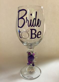 A personal favorite from my Etsy shop https://www.etsy.com/listing/199014429/bride-to-be-wine-glass