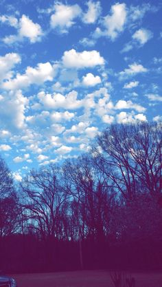 The sky was so fluffy.