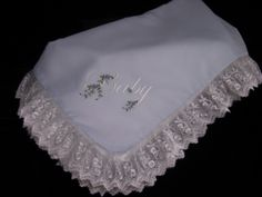 Batiste and Silk Rosebud Embroidered Baby Blanket Embroidered Baby Blankets, Embroidered Lace, Silk Baby Blanket, Hand Embroidery, Machine Embroidery, Heirloom Sewing, Rose Buds, Pure Silk, Pure Products