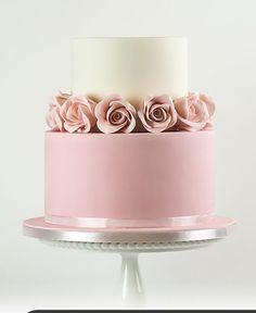 Birthday Cake Roses, 15th Birthday Cakes, Sweet 16 Birthday Cake, Beautiful Birthday Cakes, Birthday Cakes For Women, Beautiful Cake Designs, Beautiful Cakes, Pretty Cakes, Cute Cakes