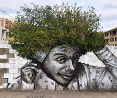 Street art makes use of the environment.  Love it.