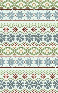 Christmas winter tribal print