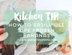 How to use frozen ripe bananas! Next time you are about to toss your brown bananas..put them in the freezer!