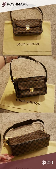 "Louis Vuitton damier print handbag Louis Vuitton damier print small handbag.  Has an adjustable shoulder strap.  Code ""heat stamp""  is VI1015. Comes with dust bag. Louis Vuitton Bags"
