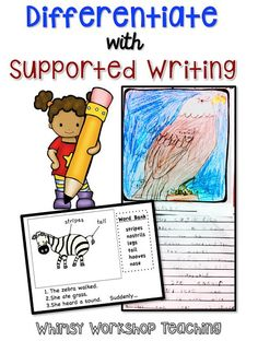 FREE printable set of writing templates to support differentiation for students.