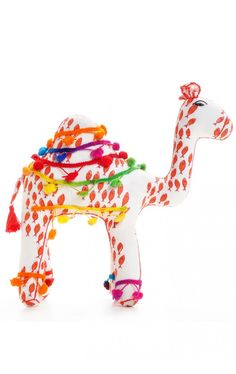 Camel kids toy created with surplus fabric prints and in partnership with Sambhali Trust; a non-profit grass roots organization to support and educate the women of Jodphur, India.