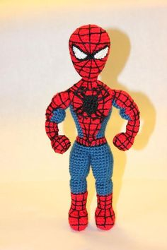 crocheted spiderman patterns | Spiderman Superhero ... by Sahrit | Crocheting Pattern