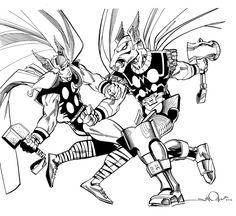 Walter Simonson Beta Ray Bill vs. Thor