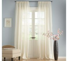Idea for curtain style for our French doors