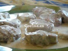 Receta de Solomillo en salsa de almendras