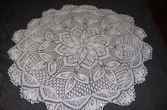 Knitted doily - given to Katie