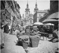 Havelský trh v prvních letech století Old Photos, Vintage Photos, Austro Hungarian, History Photos, Old City, More Pictures, Czech Republic, Historical Photos, Prague