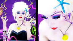Ursula Glam Inspired Makeup!  This is just a teeeeeeny bit too heavy for me but I love the color palette