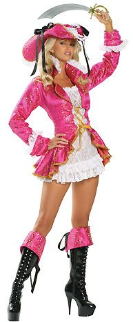 3WISHES.COM - Sexy Pirate Costumes for Women, Sexy Costumes, Adult Halloween Costumes, Playboy Pirate Wench Costume
