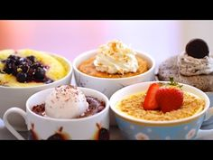 5 NEW 1 Minute Mug Cakes Made in the Microwave (including Vegan, Egg-Free & Gluten-Free Recipes) - YouTube