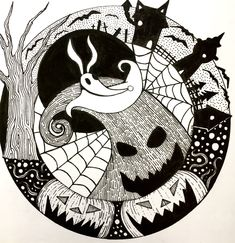 Ink Illustrations, Illustration Art, Emily Brooks, Oogie Boogie, Baby Art, Paper Dimensions, Woodburning, Totoro, Nightmare Before Christmas