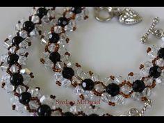 How to make a simple Crystal Bracelet. Как сделать браслет из бисера и кристаллов