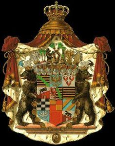 Wappen der Fürst von Anhalt, der Herzog von Sachsen und des Grafen von Ascania   Coat of Arms of The Prince of Anhalt, Duke of Saxony  and Counts of Ascania