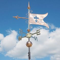 This hand-crafted weathervane will provide a lifetime of enjoyment. It is a meticulously detailed weather instrument and a perfect blend of form and function. A free adjustable roof mount is included