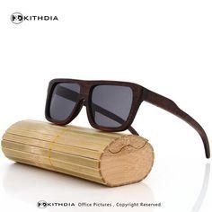 07160a7e78509 KITHDIA Wood Sunglasses Men Brand Designer Polarized Driving bamboo  Sunglasses Wooden Glasses Frames Oculos De Sol Feminino