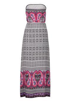 ethnic print maxi dress with paisley