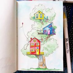 Drawing Cartoons, Drawing Drawing, Watercolor Sketch, Book Illustrations, Sketching, Art Ideas, Bible, Architecture, Painting