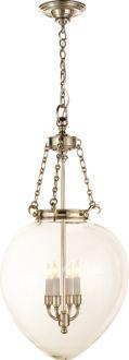 "LARGE AMPHORA BELL JAR PENDANT  16.25"" w 1049 DISCONTINUED"