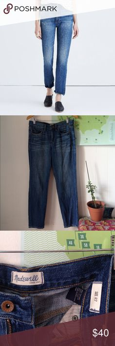 Madewell Slim Boyjean Great condition Straight leg jeans from Madewell. This is a re-posh. I had never purchased Madewell jeans before and didn't really know my size, unfortunately these are too large. I think they are TTS size 27, however. No flaws. Very comfortable, soft denim. 100% cotton. 28in inseam. Madewell Jeans