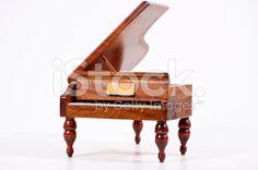 Piano on White royalty-free stock photo