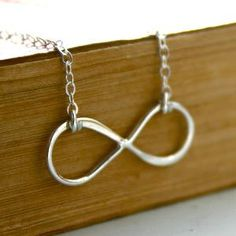Sterling silver Infinity necklace by JustJaynes on Etsy Cute Jewelry, Jewelry Box, Jewelery, Jewelry Accessories, Fashion Accessories, Jewelry Making, Jewelry Ideas, Diy Jewelry, Fashion Shoes