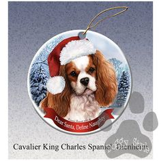 Cavalier King Charles Spaniel Howliday Dog Christmas Ornament
