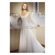 ...This might be my new favorite. I THINK IT IS.. But it has even less information about it >< Bell Sleeve Wedding Dress