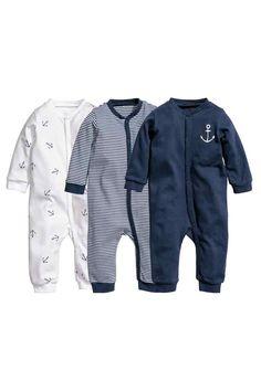 Lot de 3 pyjamas - Bleu foncé/rayé - ENFANT | H&M FR 1