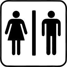 Men Women Restroom Decal Bathroom Sign Restroom by FarinDecals