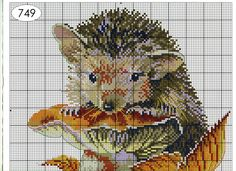 Hedgehog Cross Stitch, Cross Stitch Animals, Animals And Pets, Baby Animals, Cute Animals, Cross Stitch Designs, Cross Stitch Patterns, C2c Crochet, Knitting Stitches