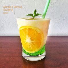 オレンジとバナナのスムージー