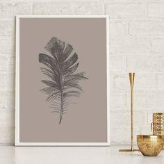 Set of 3 Feather Prints Home Decor Botanical Wall Art, Feather Print, Wall Art Prints, Tropical, Nature, Color, Home Decor, Naturaleza, Colour