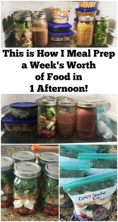 This is how I meal prep a week's worth of food in 1 afternoon. If meal prep is on your todo list but not sure where to start then save this post. Lots of tips, recipes, and even some videos.