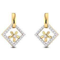 Romilly Diamond Studded Gold Earrings