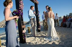 floral ceremonial arch - a beautiful custom piece designed by the bride and groom at our sister property in Cabo - Hacienda Cocina y Cantina