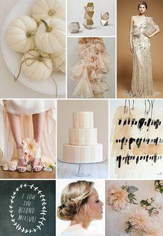 White Pumpkin & Blush Dahlia Wedding Inspiration Board