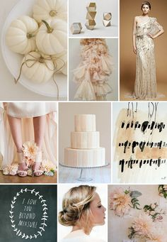 White Pumpkin & Blush Dahlia Wedding Inspiration Board