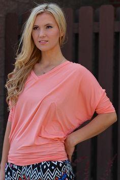 Peachy Keen 3/4 Dolman Sleeve Top